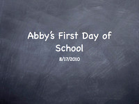 Abby's First Day